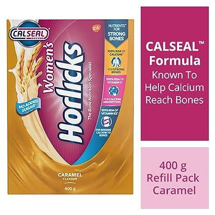 Horlicks Women's Health and Nutrition Drink, 400 gm, Caramel
