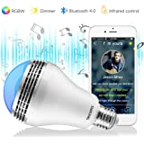 Texsens Smart LED Music Light Bulb - Light Flashes as Music Goes