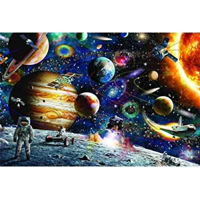 Jigsaw Puzzle 1000 Pieces for Adults, Jigsaw Puzzle Set Scenery Educational Toy, Funny Family Games, Home Decoration 30 x 20 inch (Galaxy): Health & Personal Care