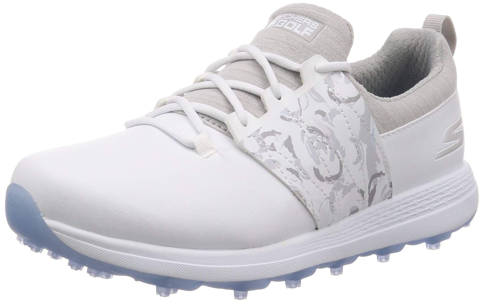 Skechers Women's Eagle Spikeless Golf Shoe, White/Gray Floral, 6 M US by Skechers
