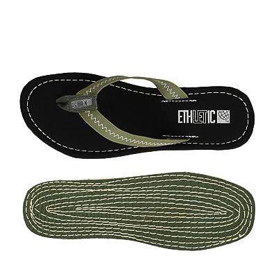 Ethletic Fair Flip Vegan Classic - Farbe Camping Green/Funky Black Aus Bio-Baumwolle Größe 45 aucVna6