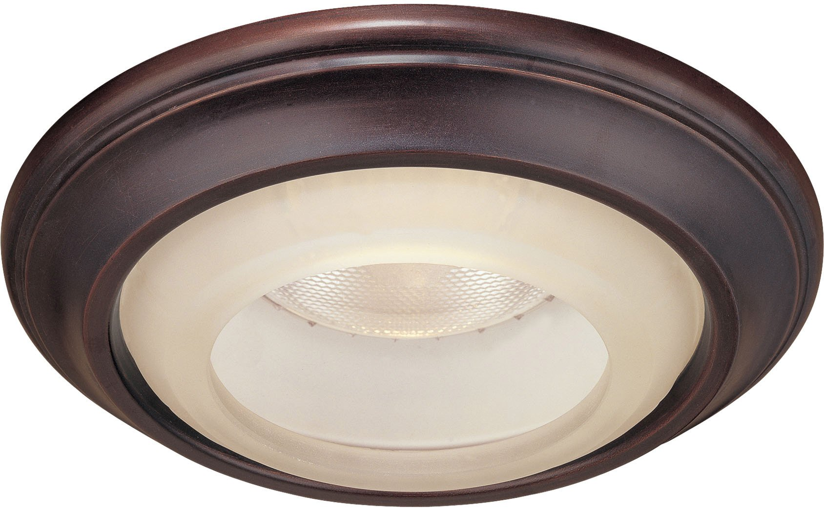 Minka Lavery Recessed Trims 2718-167, 1730 Series 6 Inch Round Glass Recessed Lighting Trim Ring, 50 Watts, Bronze