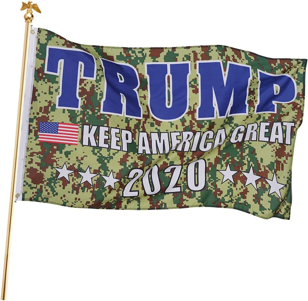 FRF Donald Trump 2020 Flag Camo 3x5 Ft- Keep America Great - Indoors Special Outdoors US Banner