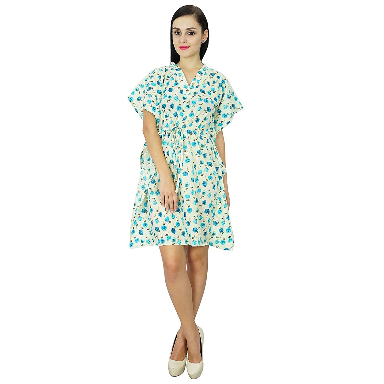 Bimba Women Wear Cotton Kaftan Kleid-Kurzschluss-Strand-Vertuschung-Tunika  Printed Kaftan: Amazon.de: Bekleidung