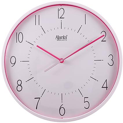 450351a424 Buy Ajanta Plastic Sweep Clock (30.3 cm x 30.3 cm x 4.5 cm, Pink ...