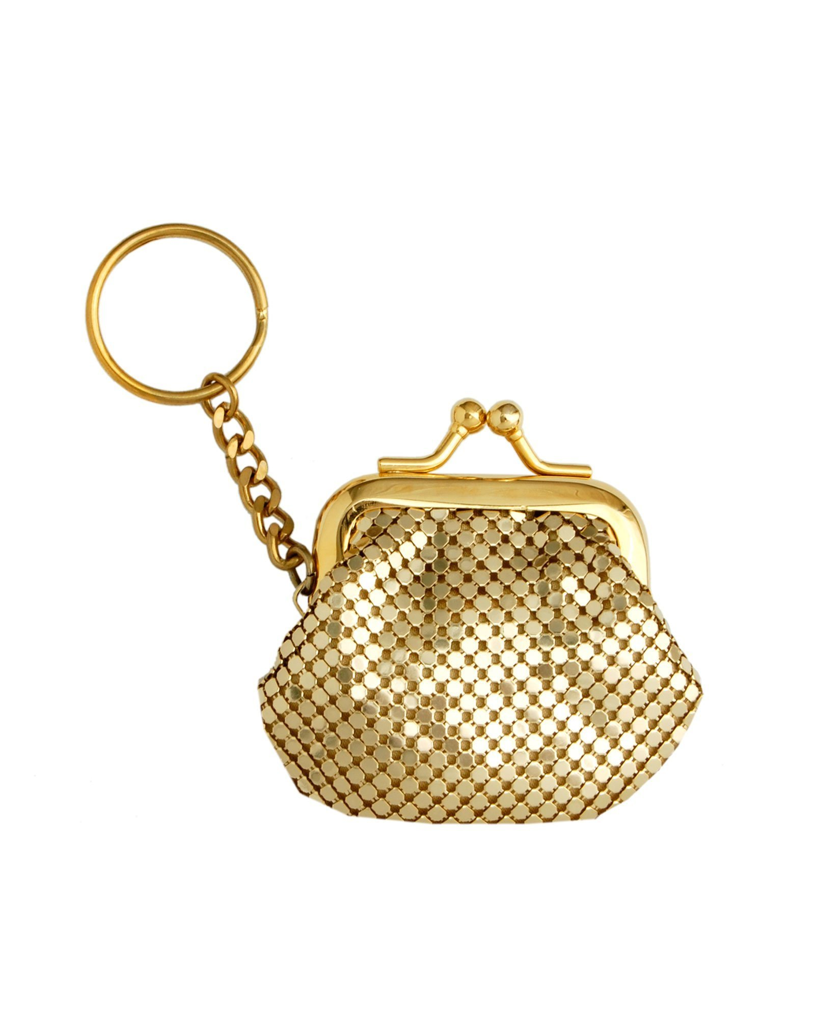 Whiting and Davis Classic Mesh Key Ring Coin Purse (Gold) by Whiting & Davis (Image #1)