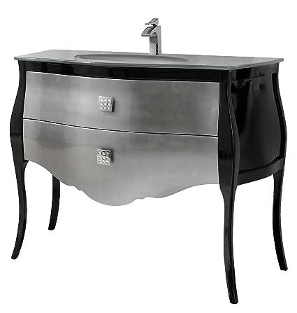 Paris 44 Inch Bathroom Vanity Cabinet Set Silver Gray Optical And