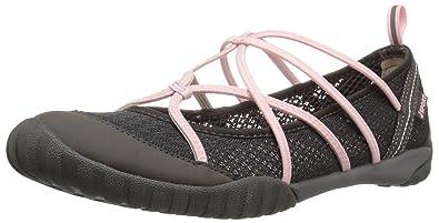 JSport by Jambu Women's Radiance-Water Ready Walking Shoe, Charcoal/Petal, 6