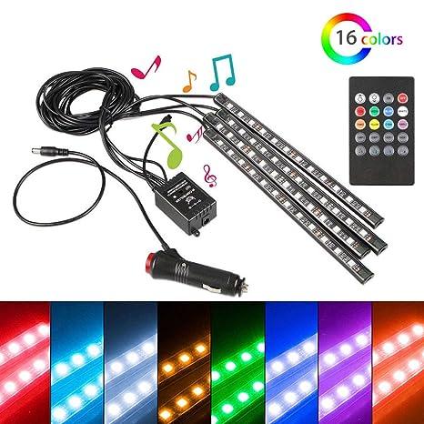 Amazon.com: XT AUTO 4 piezas de luces LED para coche, neón ...