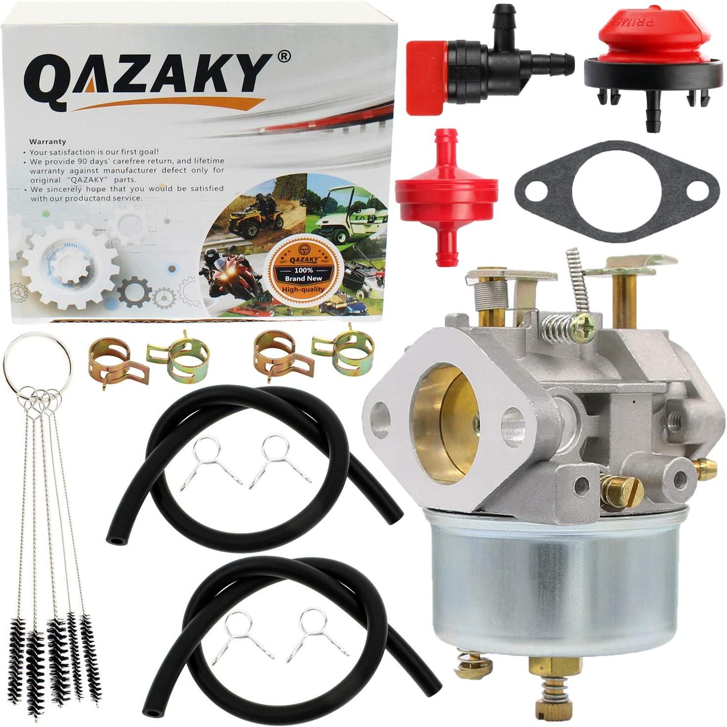 QAZAKY Carburetor Replacement for 526 726 732 826 826D 828D 832 1032 1032D TRS22 TRS24 TRS26 TRS27 TRS32 TRX24 TRX26 TRX27 TRX32 Snowblower Snow Blower Carb with Primer Bulb Fuel Filter