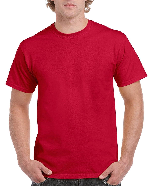 (ギルダン) Gildan メンズ ウルトラコットン クルーネック 半袖Tシャツ トップス 半袖カットソー 定番アイテム 男性用 B01LZ2WD1O XXXL|チェリーレッド チェリーレッド XXXL