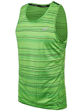 NIKE Men's Dri-Fit Cool Tailwind Stripe Running Tank Top at Amazon Men's  Clothing store:
