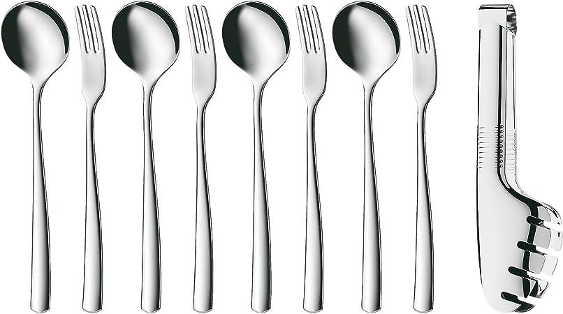 65.7883.9990 WMF Pasta- Set for 4 Neu Teller /& Besteck für 4 Personen