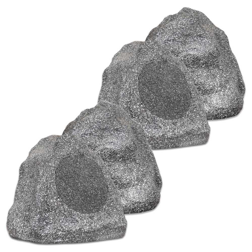 Theater Solutions 4R6G 2 Pairs of New 6.5'' Woofers Outdoor Garden Waterproof Granite Rock Patio Speakers