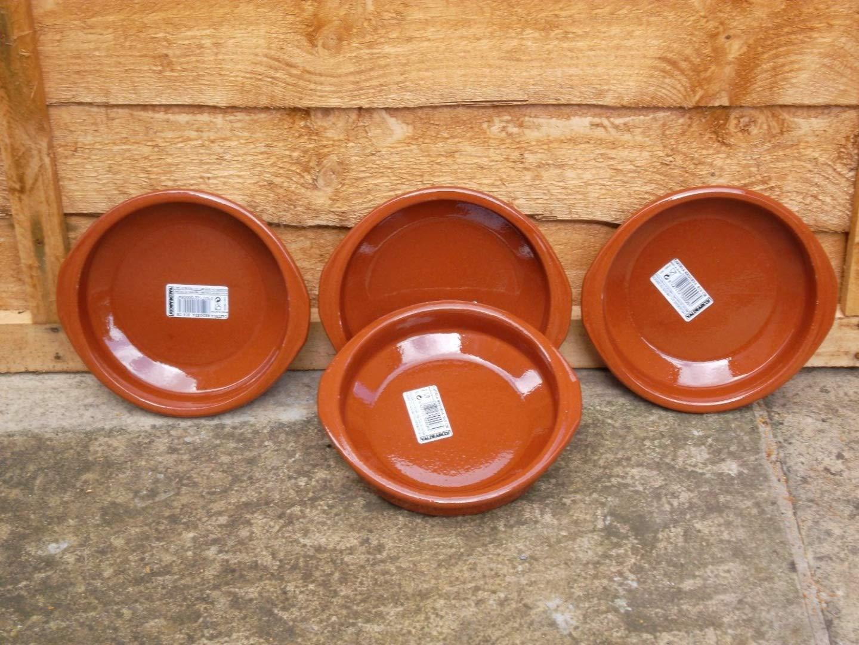 Set of 4 Spanish Terracotta Tapas Dishes / Cazuelas - 16cm diameter Valdearcos Martos S.A
