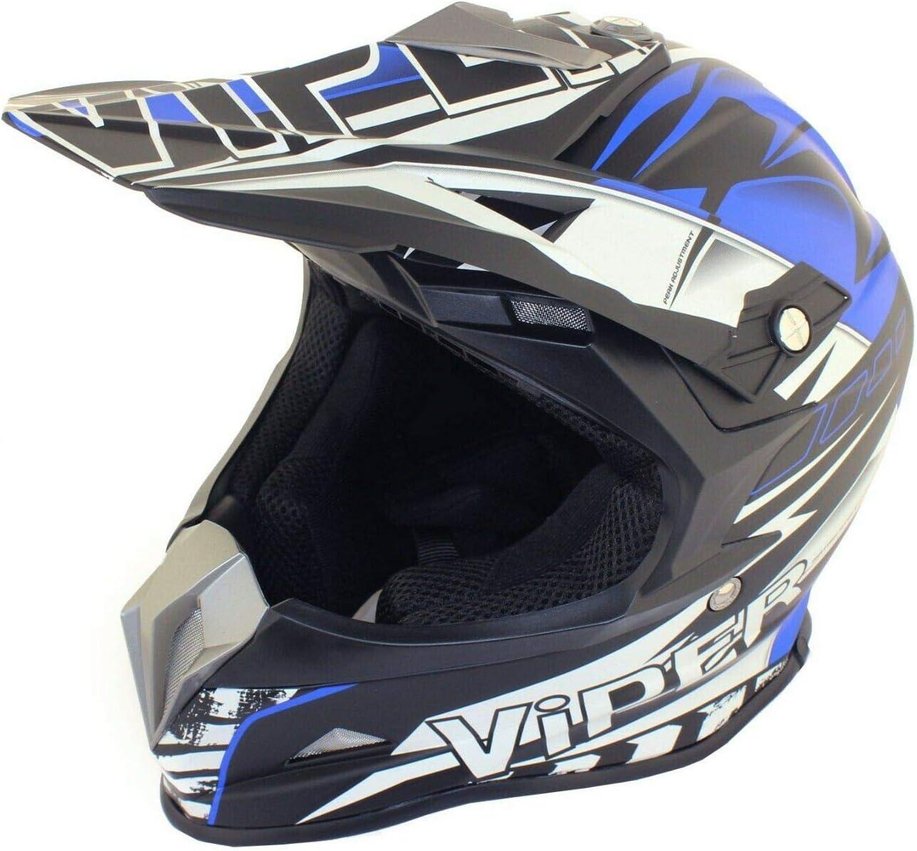 Adult Mx Helmet Motorbike Road Legal On and Off Road Motorcycle Quad Pit Dirt Bike Racing ATV Motocross VIPER RSX121 Enduro Helmets