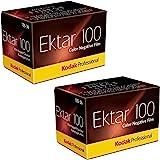 Kodak Ektar 100 Professional ISO 100, 35mm, 36 Exposures, Color Negative Film (Pack of 2)