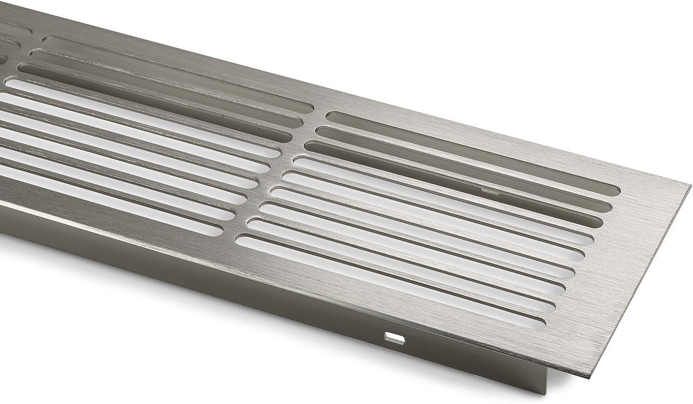 2 x SO-TECH/® L/üftungsgitter Aluminium 500 x 86 mm Schlitzgitter Bel/üftung Edelstahloptik