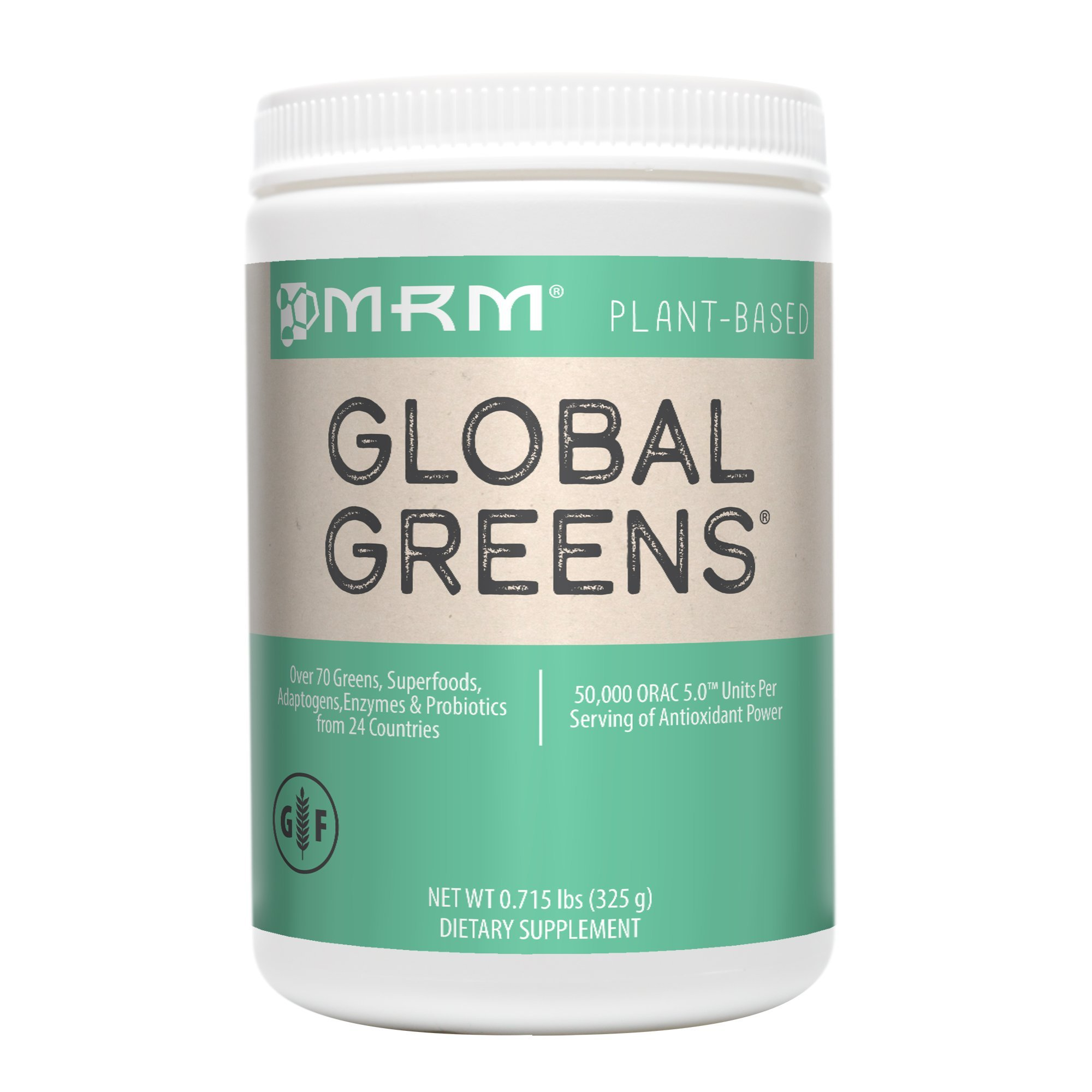 MRM - Global Greens, Over 70 Greens, Superfoods, Adaptogens, Enzymes and Probiotics in One Scoop (225 Gram)