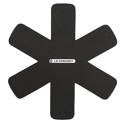 LE CREUSET - Set de 3 Protectores de sartenes, Color Negro