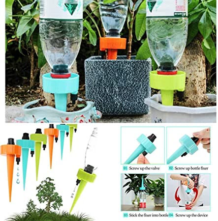 1Pc//6Pcs Drip Irrigation System Plant Waterers Automatic Watering Drip#Sprinkler