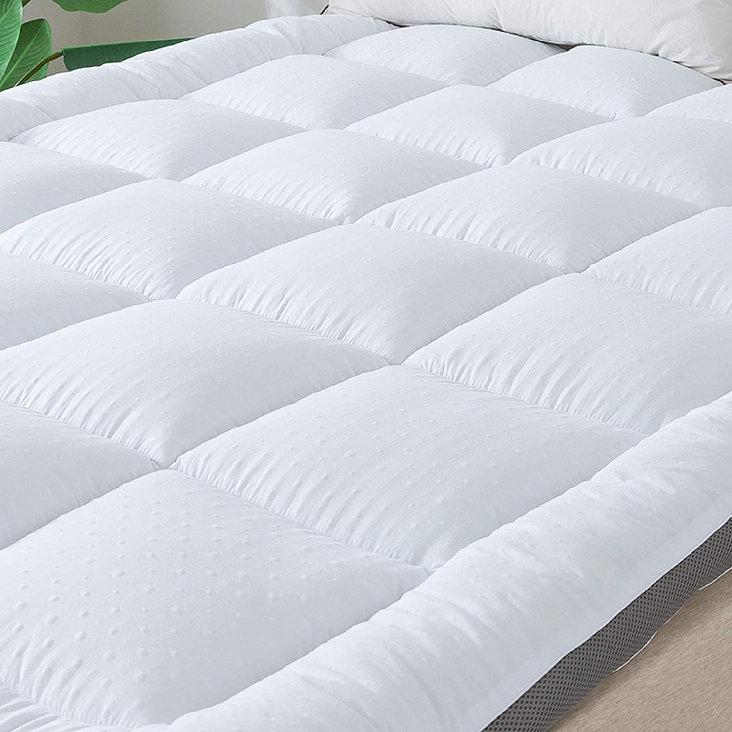 SUFUEE Mattress Topper Full Air-Flow Fabric Extra Thick Mattress Pad Quilted Down Alternative Pillow Top Mattress Cover Plush Hotel Quality