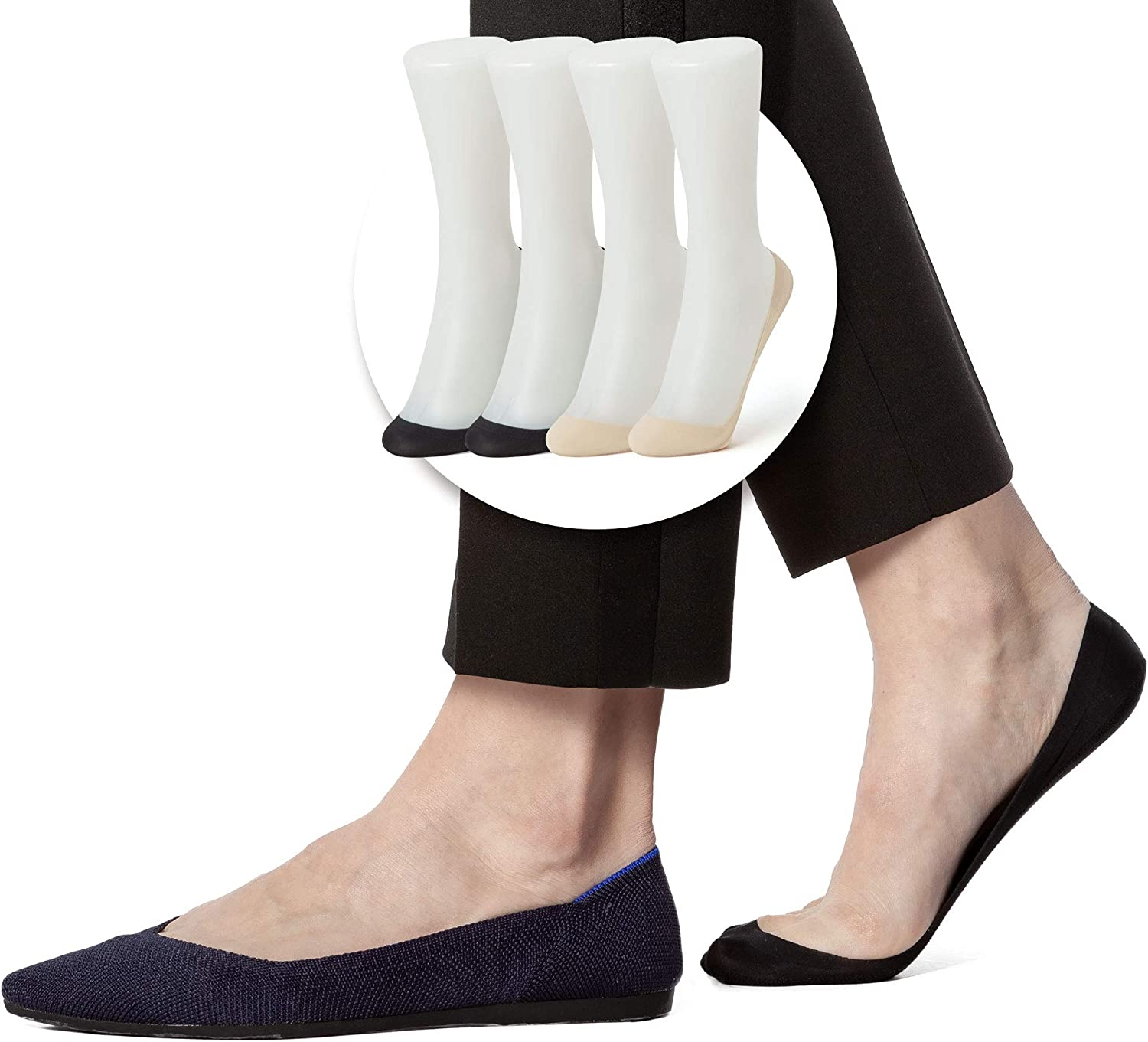 Sheec WOMEN SoleHugger SECRET 2.0 No Show Socks (Various Coverages and Sizes)
