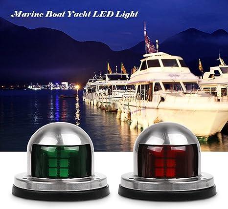 acero inoxidable 12V LED Marine Boat Yacht Luz de navegaci/ón con arco verde rojo Luces de navegaci/ón LED para barcos Marine L/ámpara de navegaci/ón marina