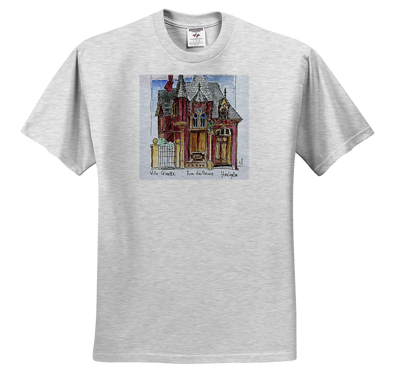 House on Rue des Bains France 3dRose Danita Delimont Adult T-Shirt XL Houlgate ts/_313128 France Normandy