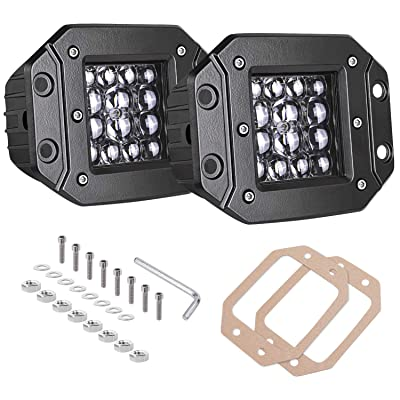 Quad Row LED Pods, AKD Part 2pcs 84W LED Flush Mount Pods 5 inch Spot Beam Philips LED Light Bar LED Work Light Driving Lights Super Bright Fog Light Off Road Lights for Truck Bumper Boat: Automotive