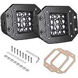 AKD Part Quad Row LED Pods, 2pcs 84W LED Flush Mount Pods 5 inch Spot Beam Philips LED Light Bar LED Work Light Driving…