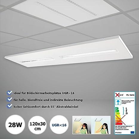 LED Oficina plafón 120 x 30 cm blanco neutro 4000 K 28 W ...