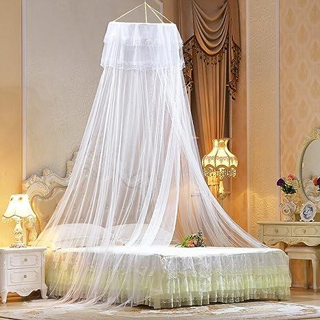 Zanzariera a tenda per letto, Vitutech Zanzariera a Baldacchino per ...