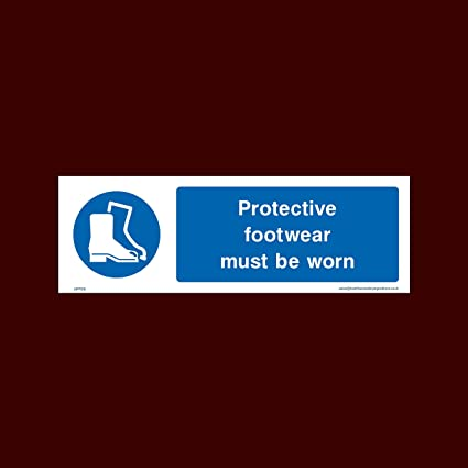 USSP&S Cartel de plástico para calzado (MPPE16) – equipo de protección personal, cascos