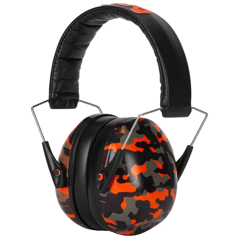 Snug Kids Earmuffs/Best Hearing Protectors - Adjustable Headband Ear Defenders For Children and Adults (Orange Camo) by Snug