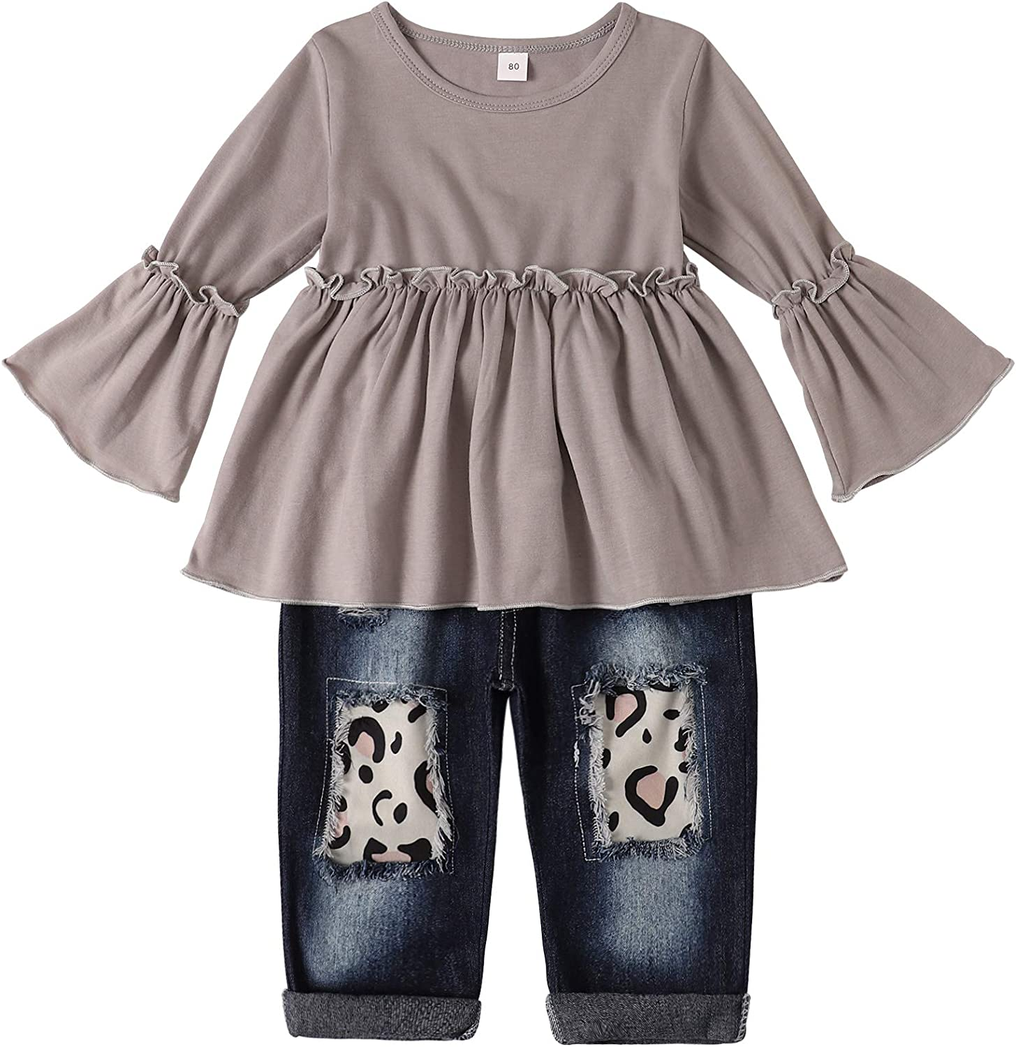 2pcs baby toddler girls clothes cotton cute outfits tops+pants girls outfits bow