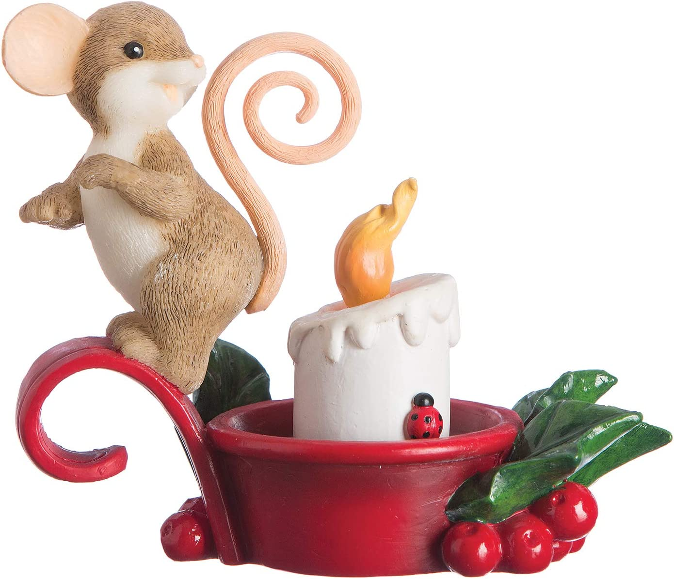 Roman - Charming Tails Collection, Lighted Mouse Figure, 4.5