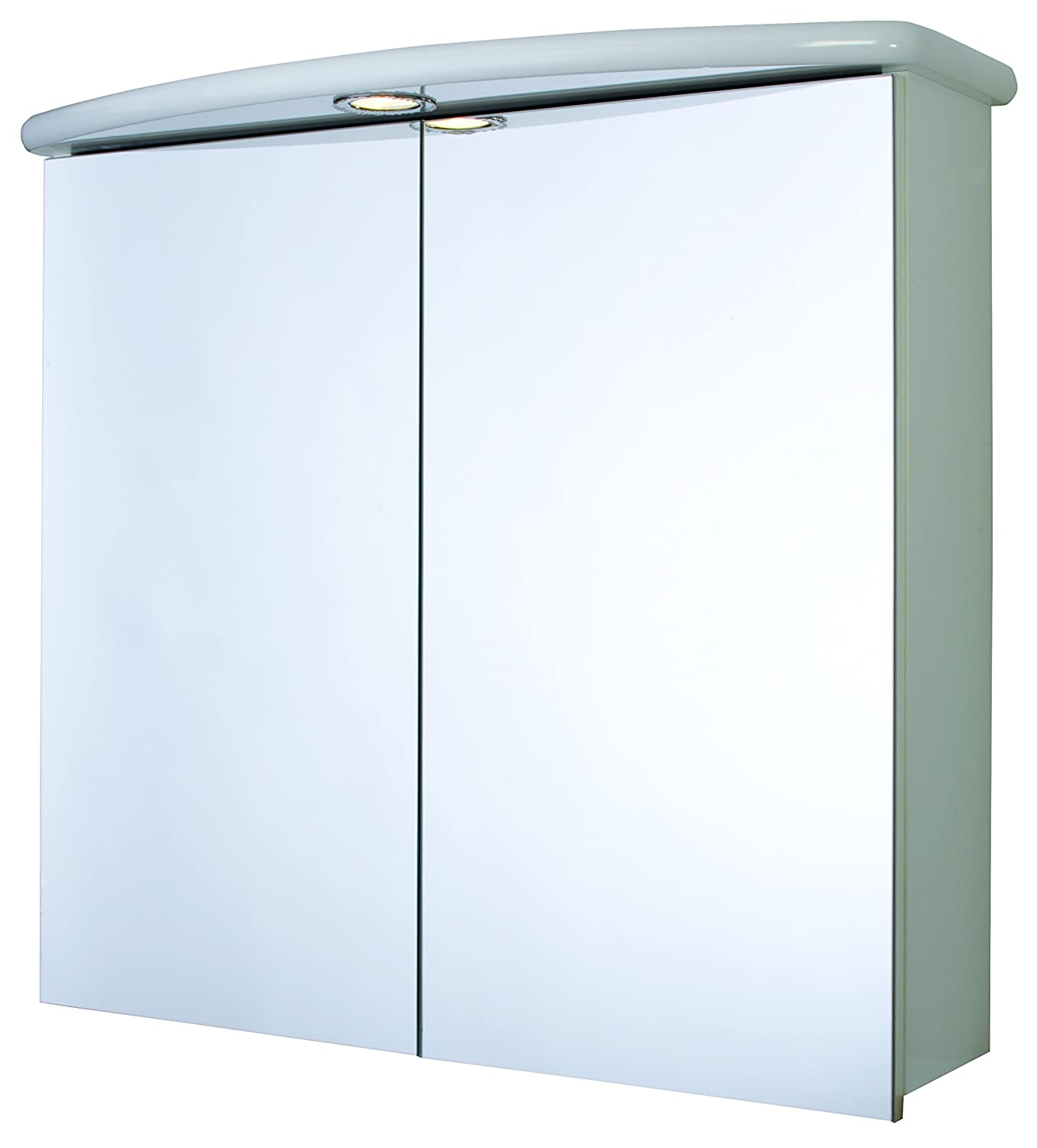Croydex Thames 2 Door Illuminated Mirror Cabinet with Shaver Socket ...