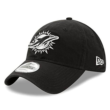 superior quality fb48c 42987 Image Unavailable. Image not available for. Color  Miami Dolphins New Era  NFL 9Twenty  quot Twill Core Classic quot  Adjustable Black Hat