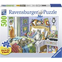 Ravensburger Cat Nap 14966 500 Piece Large Pieces Jigsaw Puzzle for Adults, Every Piece is Unique, Softclick Technology…