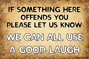 Angeloken Retro Metal Sign Vintage TIN Sign We Can All Use A Good Laugh Sign for Wall Plaque Poster Cafe Bar Pub Gift 12 X 8 INCH
