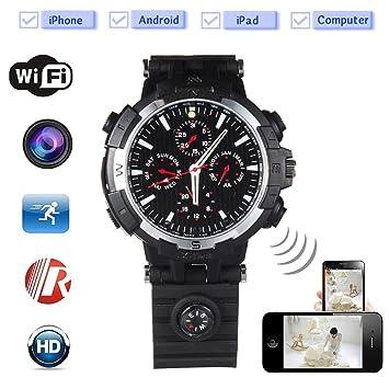 SpyCent Mini cámara espía del Reloj de WiFi DVR 720P Registrador ocultado IR videocámara de la visión Nocturna: Amazon.es: Electrónica