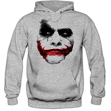 ec58db3fe Batman Joker Hoody | | Shadow | Heath Ledger Dark Knight Film Movie Hoodie  - - L: Amazon.co.uk: Clothing