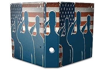 Archivador A4 Carpeta 2 anillas 60mm impreso Ejército Estados Unidos: Amazon.es: Hogar