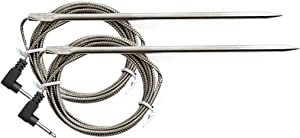 BBQ Butler Thermometer Probes - Stainless Steel - Grill Thermometer Probes - Ambient Temperature - 6 Foot Probes - Maverick Hybrid Grill Probes - ET-732/733/735-2 Pack