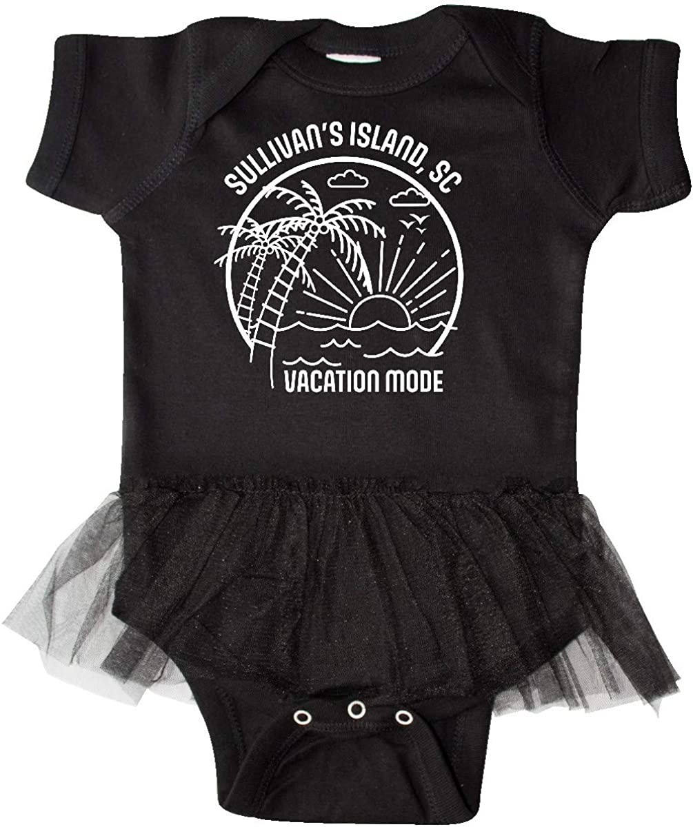 inktastic Summer Vacation Mode Sullivans Island South Infant Tutu Bodysuit