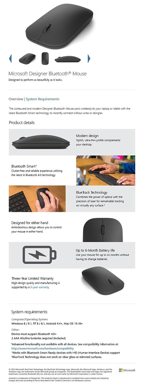 993e7c18b99 Amazon.com: Microsoft Designer Bluetooth Mouse: Computers & Accessories