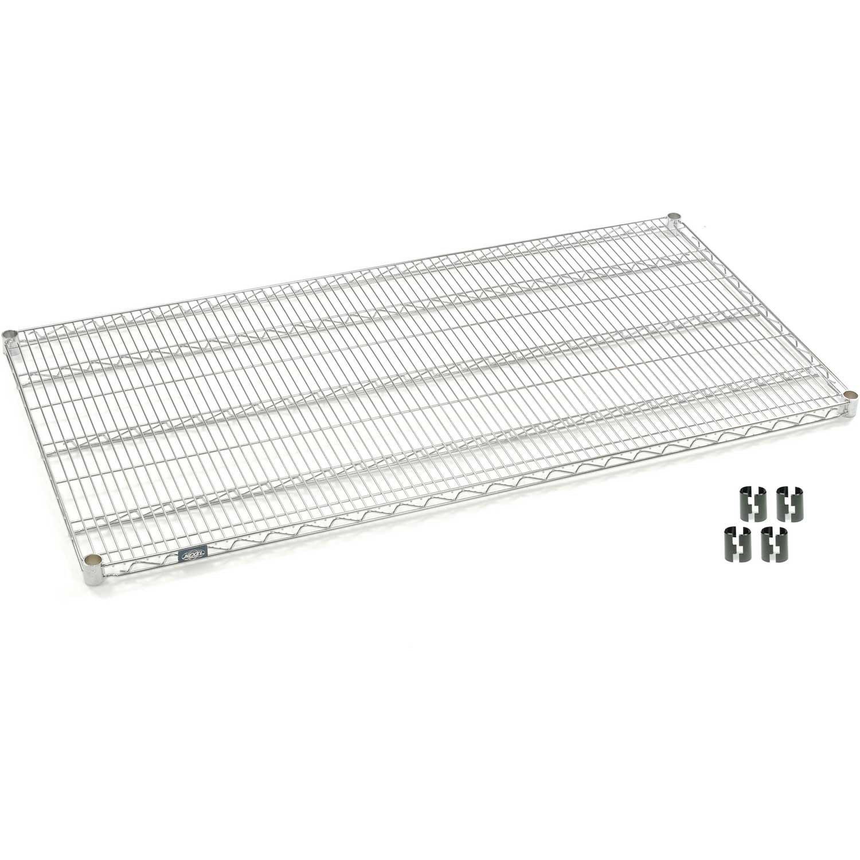 Chrome Wire Shelf With Clips, 72 x 30