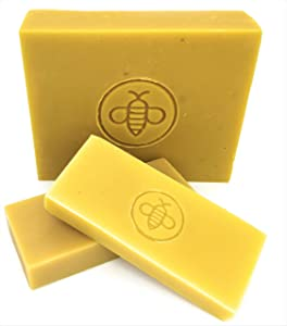 Basic Honey Beeswax Brick (5 lb) 100% All Natural Beeswax from American Bees - Cosmetic Grade