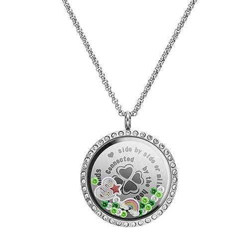 Queenberry Colgante de medallón de Acero Inoxidable - Collar ...